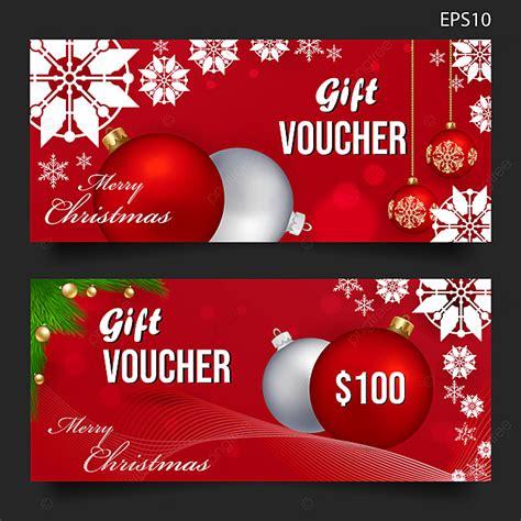 merry christmas gift voucher background vector template
