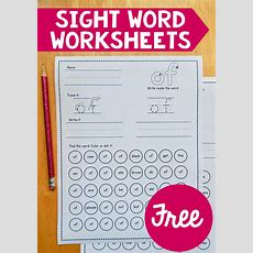 Free Sight Word Worksheets  Worksheets, Sight Word