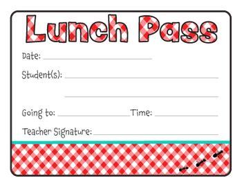 lunch pass   tidy artist teachers pay teachers