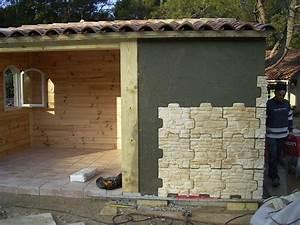 Pierre Facade Exterieur : fa ade en pierre pour un pool house aubagne 13 ~ Dallasstarsshop.com Idées de Décoration
