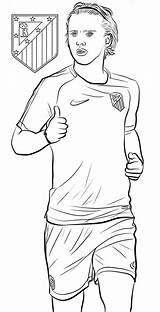 Coloring Football Player Soccer Griezmann Antoine Sheets Messi Fans Players Colouring Books Printable Coloringpagesfortoddlers Games Sheet sketch template