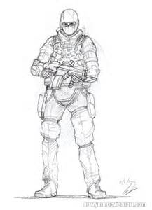 Soldier Drawings Sketches