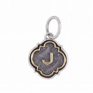 letter quotjquot quatrefoil insignia charm by waxing poetic With waxing poetic letter charms