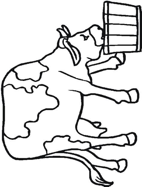 Kleurplaat Koe Melken by Kinderpleinen Boerderij Dieren Kleurplaten