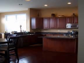 kitchen color ideas with cherry cabinets wall color for kitchen with cabinets