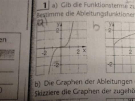 funktionsterm zu graph angeben und ableitungsfunktion