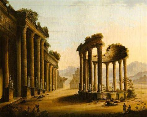 Classical Ruins with a Rotunda in 2020   Art uk, Ruins ...