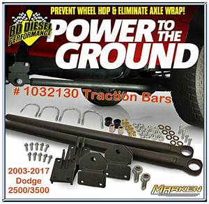 Bd Diesel Traction Bar Kit   1032130 Prevents Wheel Hop