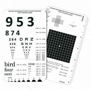 Rosenbaum Pocket Vision Screener Card