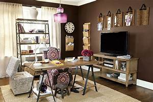 Simple and elegant office at home design ideas