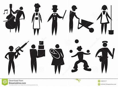 Vector Icon Professional Illustration Professions Different Depicting