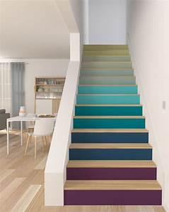 Peindre Escalier Bois 2 Couleurs ~ Meilleures images d'inspiration pour votre design de maison