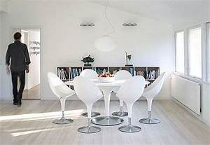 white clean and elegant interior design pictures With chaise salle a manger blanche