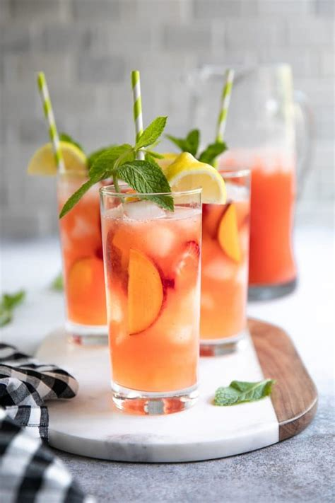 Peach Strawberry Lemonade Recipe With Less Added Sugar