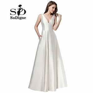 evening dress 2017 sodigne fancy white gala dress a line With robe de gala rouge