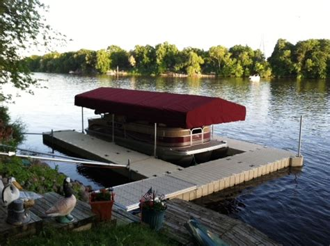 Boat Dock Canopy Covers by Marine Dock And Lift Boat Accessories Center City Minnesota