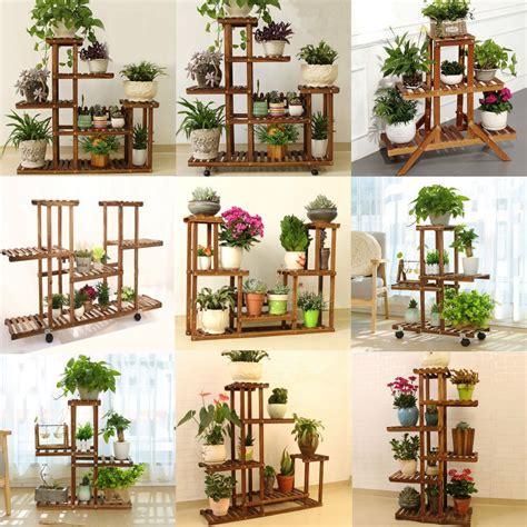 suporte de madeira  plantas indoor outdoor patio