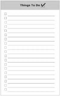 Checklist For Wedding Shower by To Do List Form To Do List Template