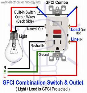 How To Wire Gfci Combo Switch  U0026 Outlet  Gfci Switch  Outlet