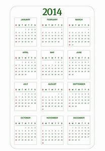 6 best images of 2014 calendar printable full page 2014 for Full year calendar template 2014