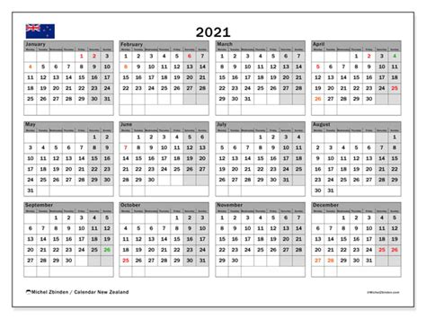 In the table below, you will find the details of the holidays and when they are observed. 2021 Calendar, New Zealand - Michel Zbinden EN