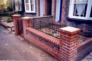 Brick laminate picture garden wall designs