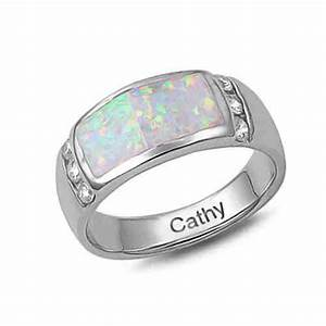 men39s opal wedding band with inscription dream wedding With mens opal wedding rings