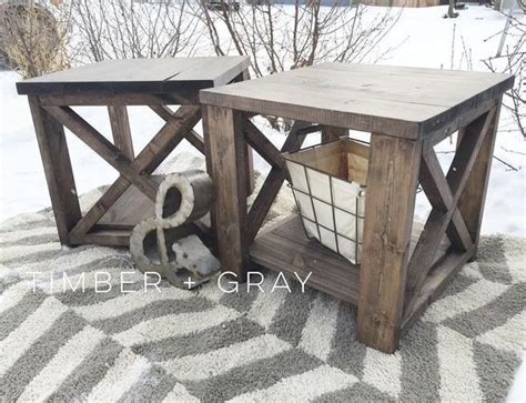 31 Rustic Diy Home Decor Projects: Best 25+ Diy End Tables Ideas On Pinterest