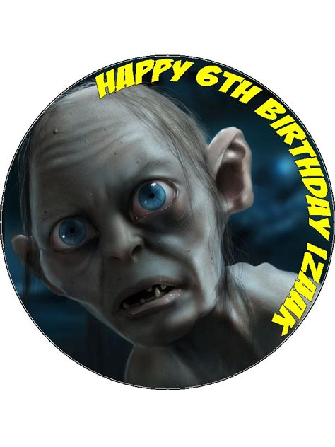 gollum lord   rings hobbit edible icing  wafer