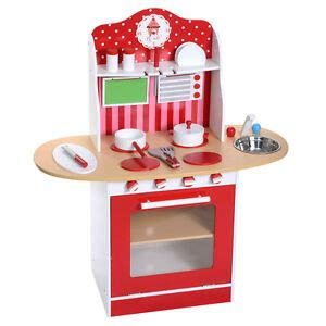 kids wood kitchen toy cooking pretend play set toddler wooden playset gift   ebay