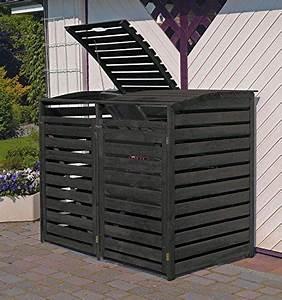 Mülltonnenbox Holz Anthrazit : m lltonnenbox 2 tonnen holz anthrazit schwarz verkleidung m lltonnenverkleidung ~ Whattoseeinmadrid.com Haus und Dekorationen