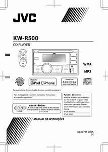 Jvc Kw R500j R500 User Manual Instruction  America