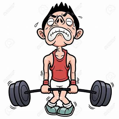 Clipart Lifting Weight Struggle Weak Library Clip