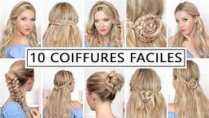 Coiffure Simple Femme : 10 coiffures pour la rentree avec des tresses tuto rapide facile youtube ~ Melissatoandfro.com Idées de Décoration