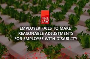 Employer Fails To Make Reasonable Adjustments