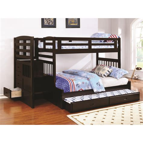 27010 coaster furniture beds coaster dublin 460366 stairway bunk bed