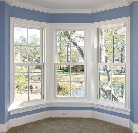 window ideas remarkable decorate bay window ideas performing soothing blue wall color paint with molding
