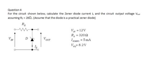 Solved Question For The Circuit Shown Below Calculate