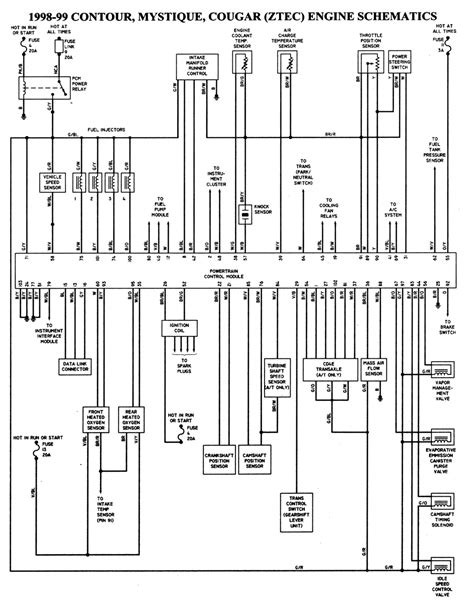 wiring diagrams  ford contour