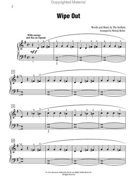 drum sheet music wipeout solo drums piano wipe percussion easy printable drumline drumming bucket scores visit forward awesome discover