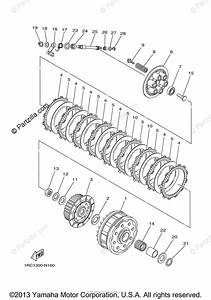 Yamaha Motorcycle 2014 Oem Parts Diagram For Clutch