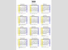 Calendário 2020 em png pronto para você utilizar webcid