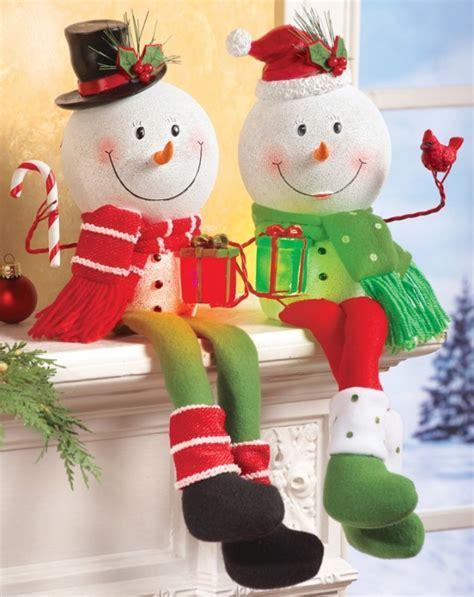 lighted snowman shelf sitter holiday decoration christmas