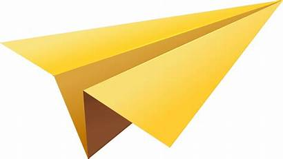 Paper Yellow Plane Transparent Purepng