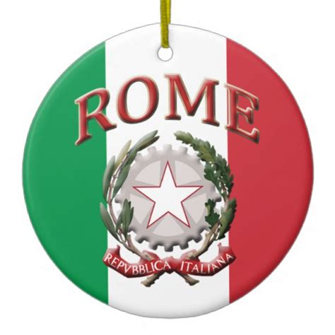 rome italy christmas tree ornament zazzle
