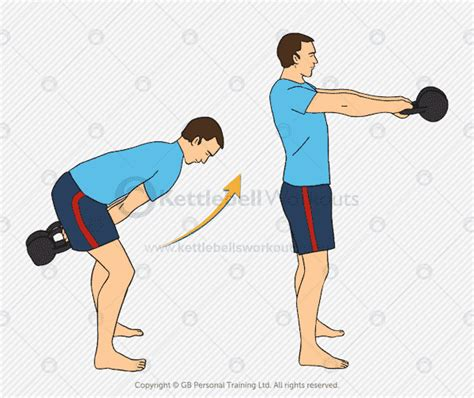 kettlebell swing double handed strength workout exercise workouts
