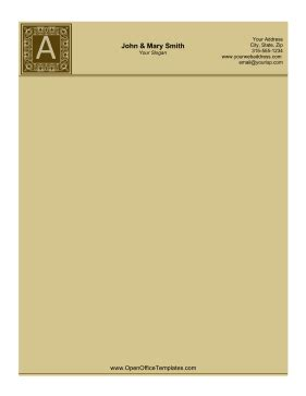 letter  letterhead openoffice template