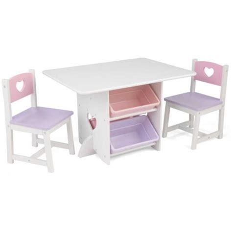 cuisine kidkraft pas cher kidkraft table chaises et bac rangement enfant en bois