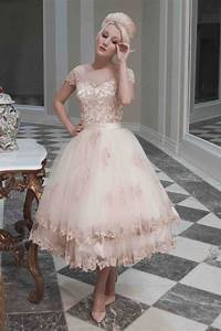 popular champagne tea length wedding dresses buy cheap With champagne tea length wedding dress
