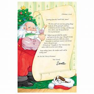 personalized santa39s nice list certificate With miles kimball letter from santa